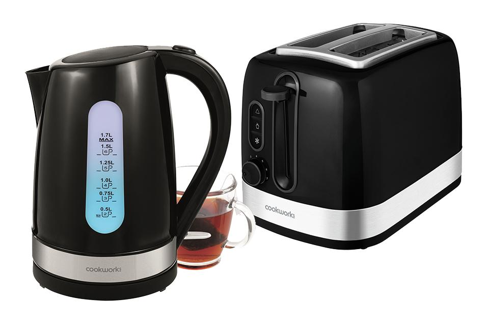 Cookworks Kettles and Toaster starting £11.99.