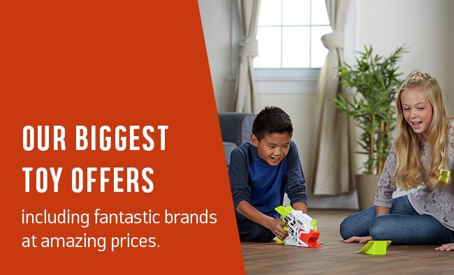 Our biggest toys offers including fantastic brands at amazing prices.