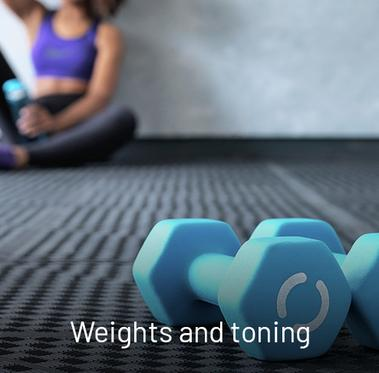 Weights and toning.