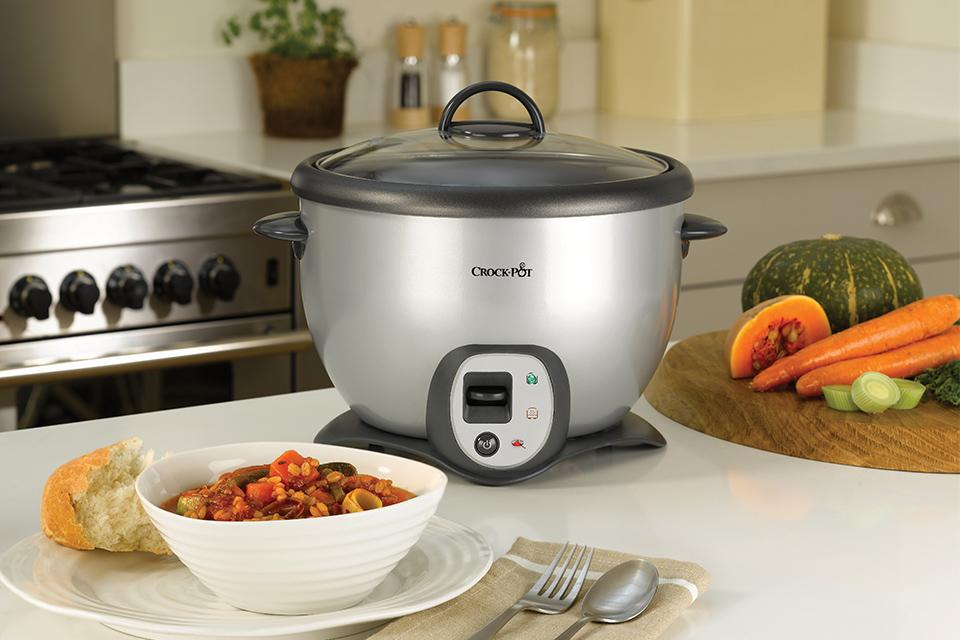 Crock-Pot 2.2L Saute Rice Cooker - Silver.