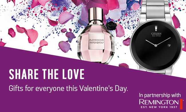Share the love. Gifts for everyone this Valentine's Day.