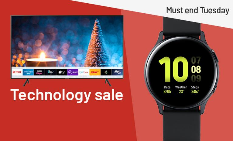 Technology sale. Must end Tuesday.