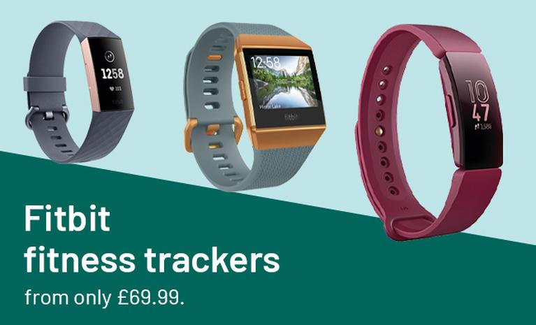 Fitbit fitness trackers from only £69.99.