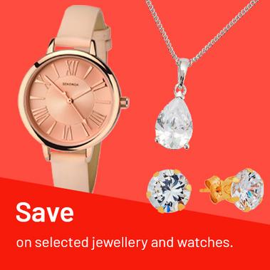 Save on selected jewellery and watches.