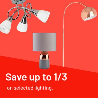 Save up to 1/3 on selected lighting.