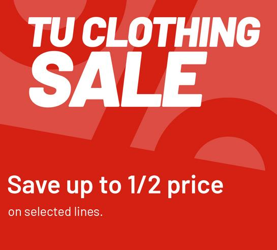 Tu clothing sale Save up to 1/2 price on selected lines.