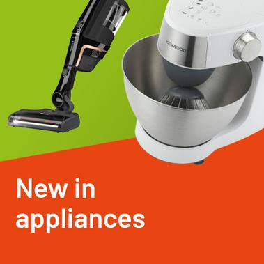 New in appliances.