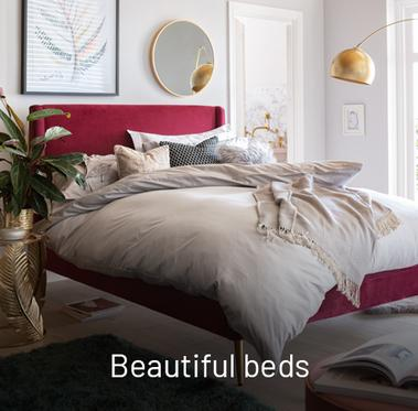 Beautiful beds.