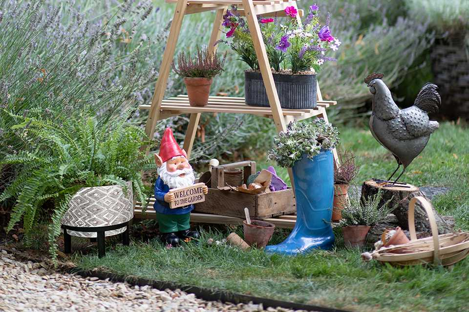 Image of some garden decoration items