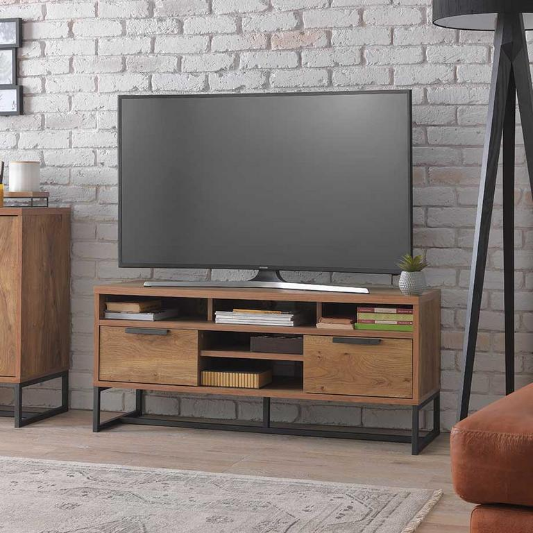 The Nomad TV unit in a lounge setting next to the Nomad display unit.