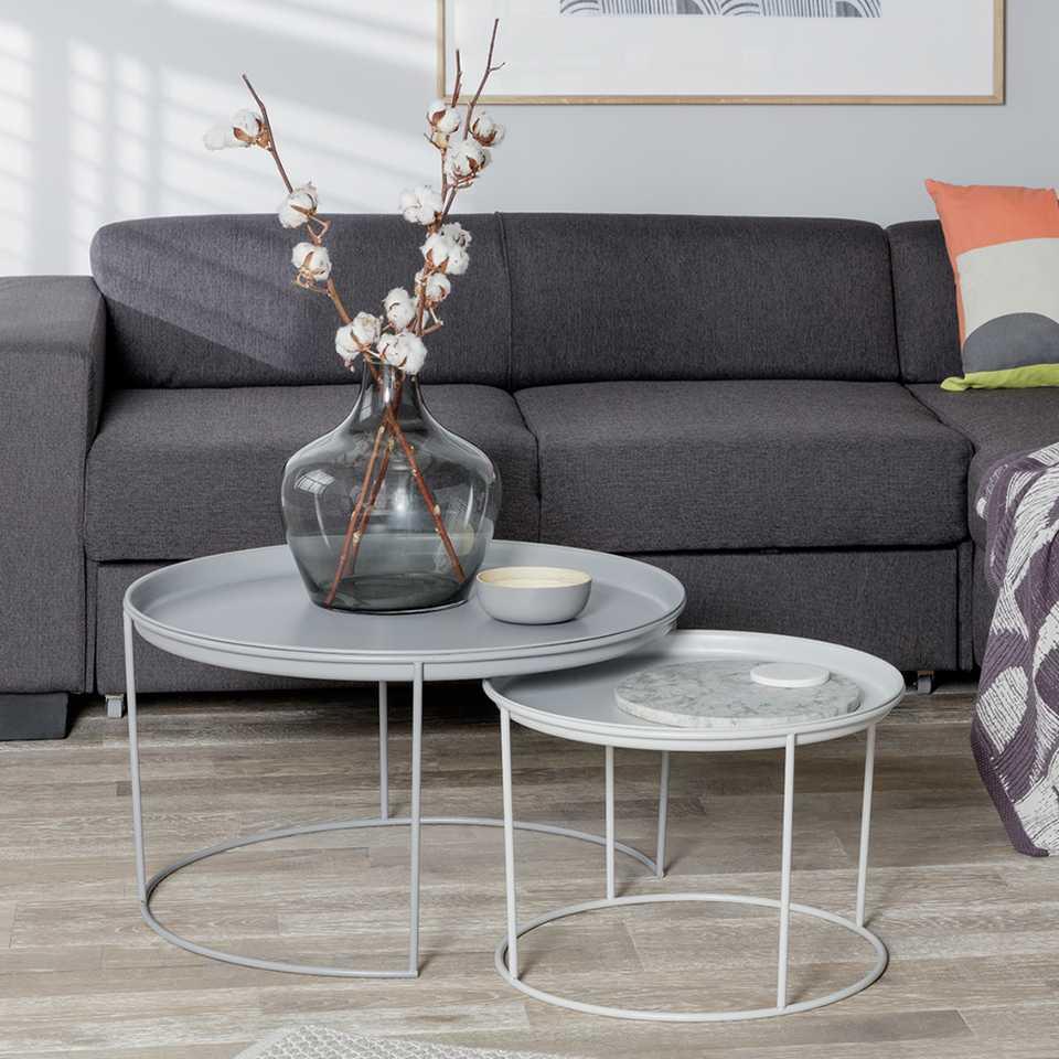 Image of a grey sofa