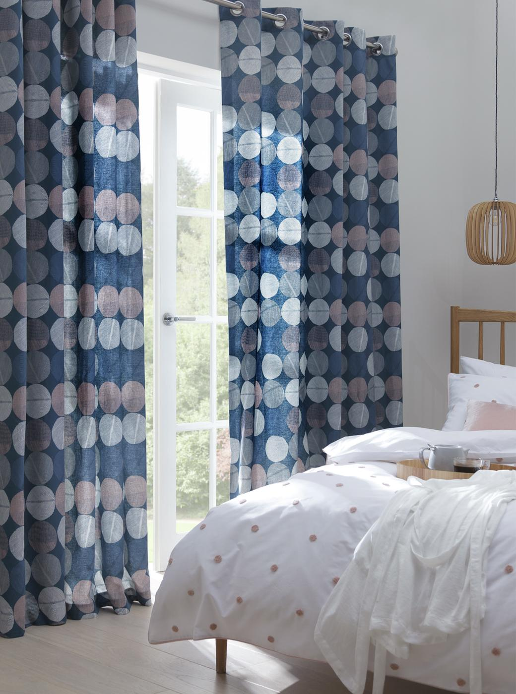 Scandi style curtains.