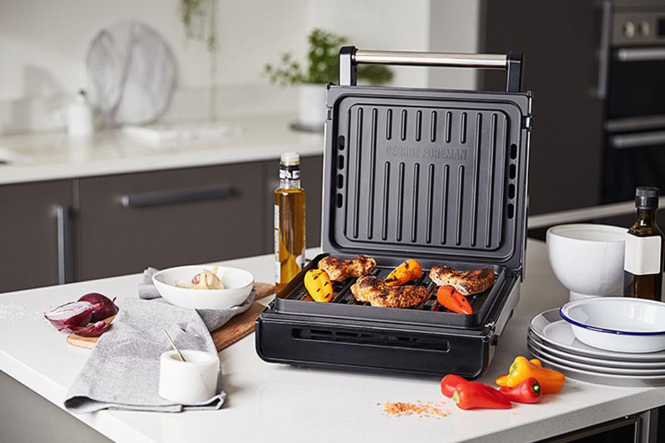 George Foreman Smokeless Grills.