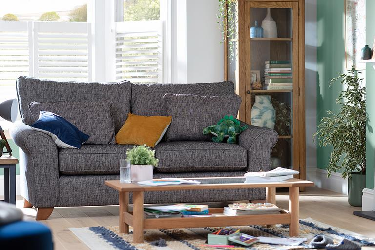 Habitat Gracie 3 Seater Fabric Sofa - Charcoal.