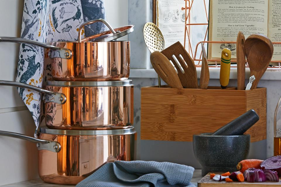 Copper cookware.