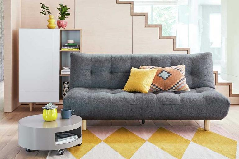 Habitat Kota Fabric 3 Seater Sofa Bed - Charcoal.