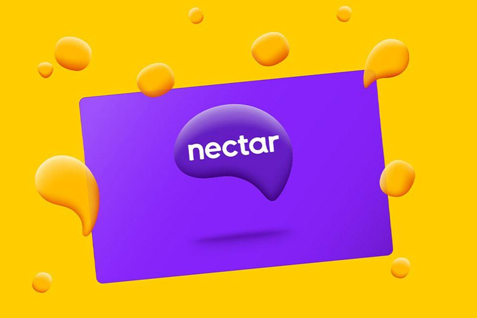 Nectar card against yellow background.