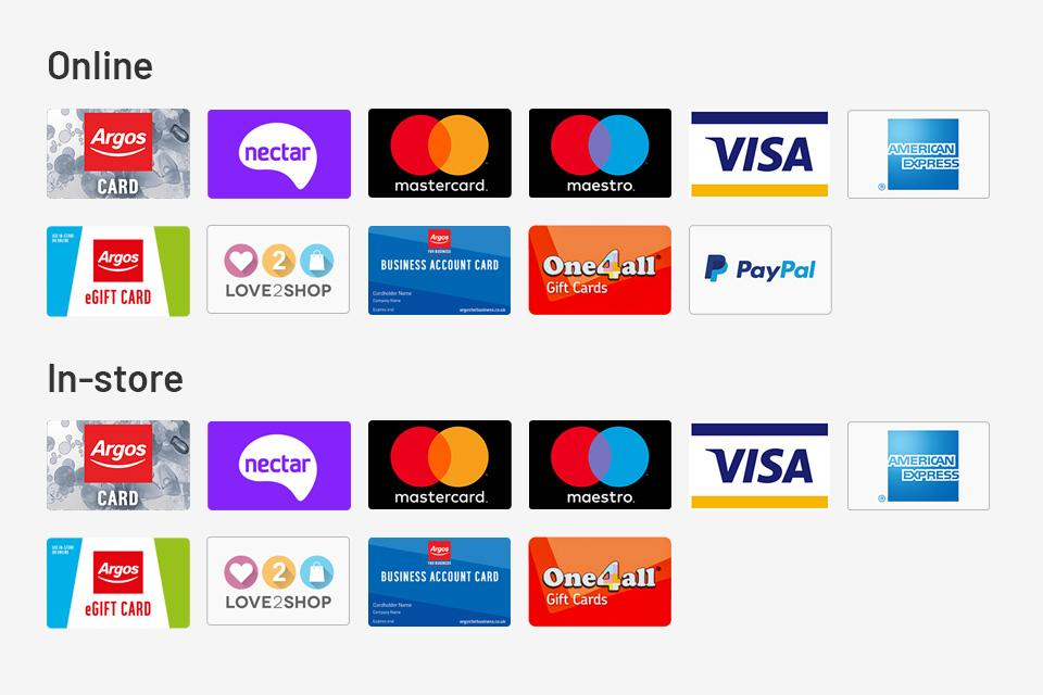 An image of all our accepted payment types.