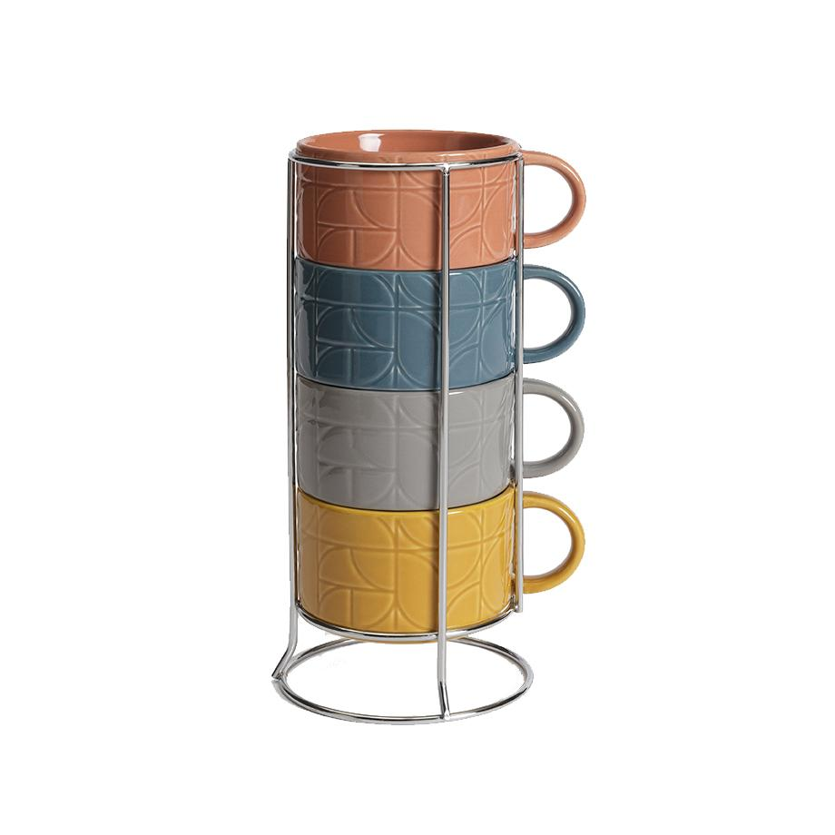Mid Century House stacking mugs.