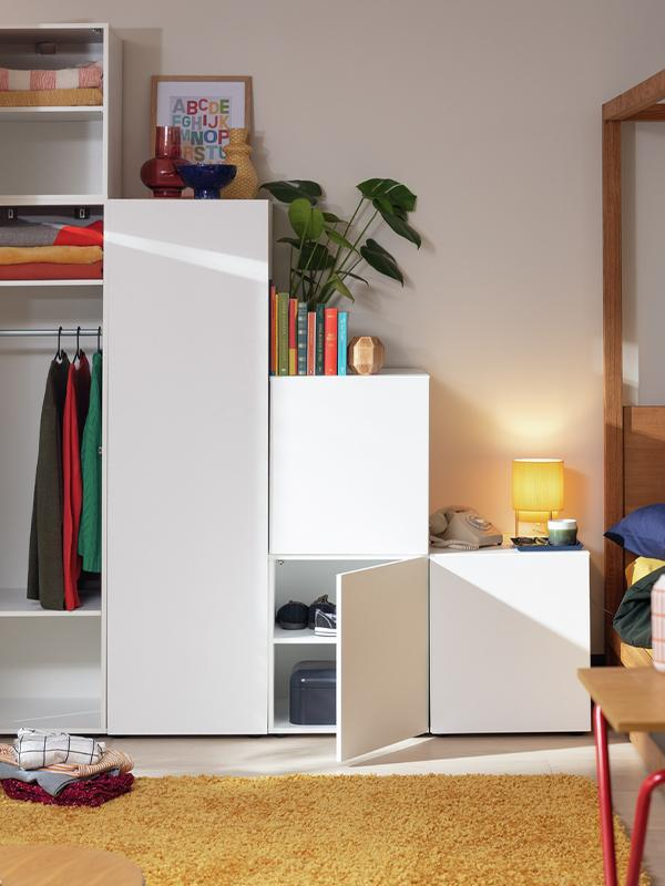 Habitat Malibu Stepped 1 Door Large Wardrobe - White.