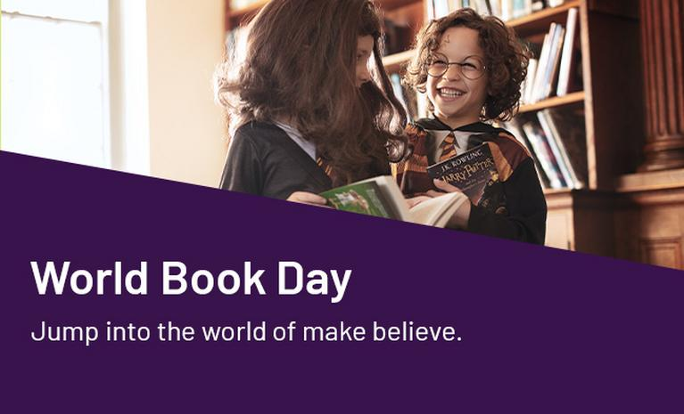 World Book Day. Jump into the world of make believe.