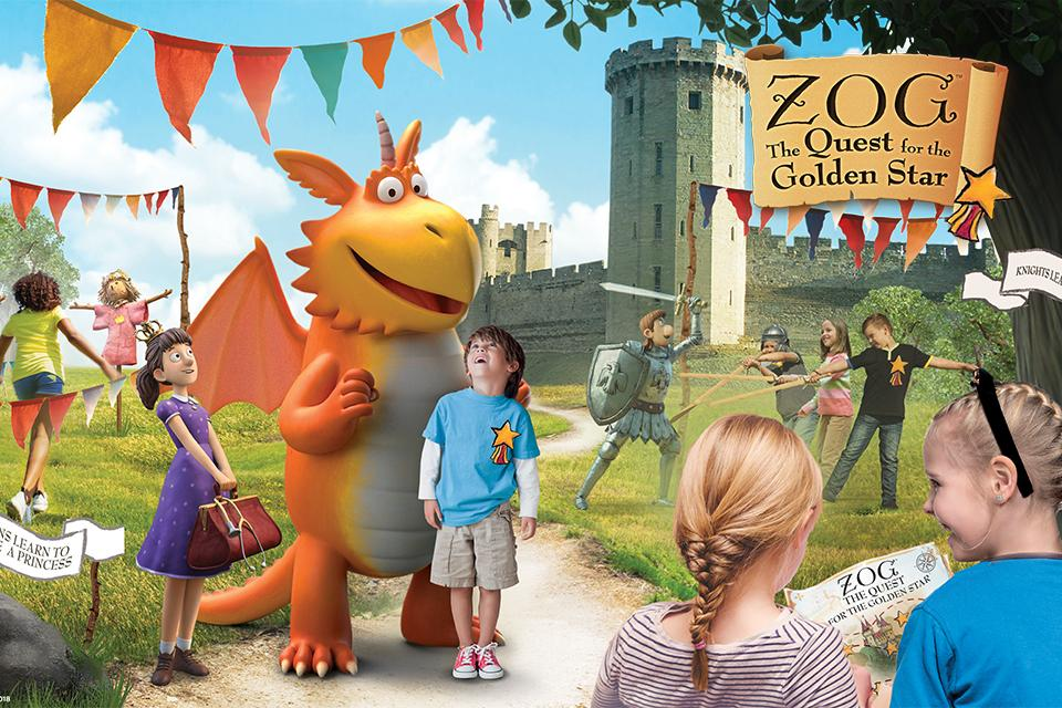 Win the ultimate family 2-night break with Zog at Warwick Castle.