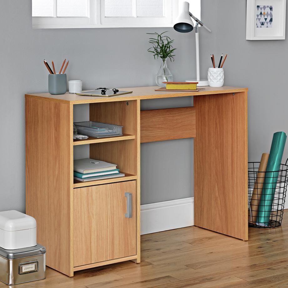 Home office furniture and equipment.