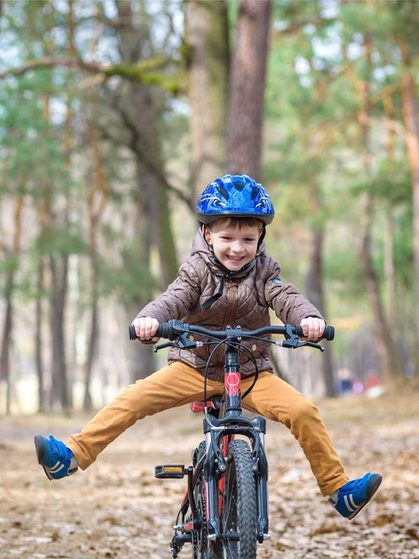 How to find the right bike size and type for kids.
