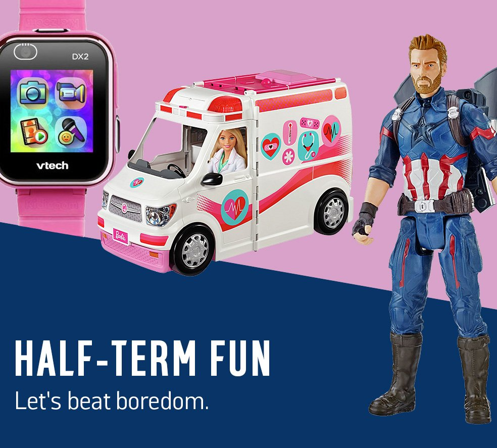 Half-term fun. Let's beat boredom.