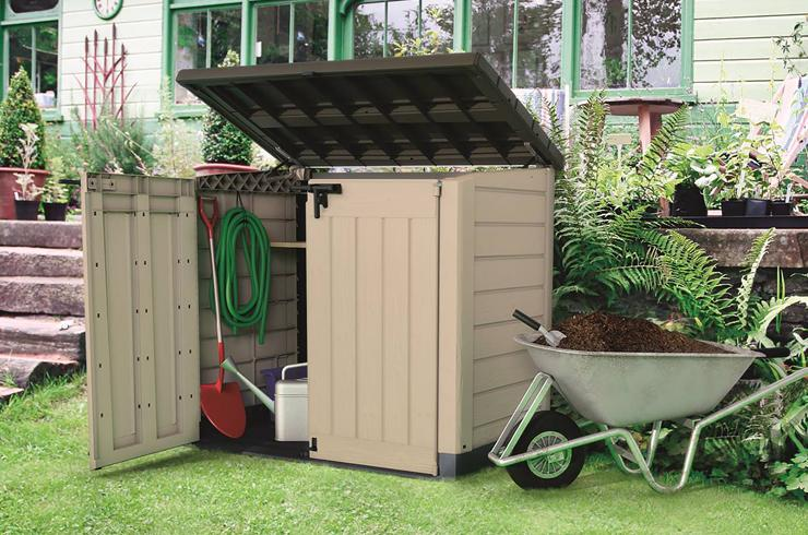 Garden storage ideas.