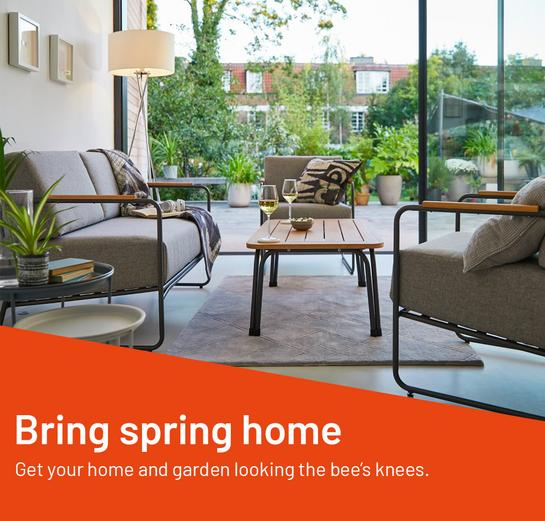 Bring spring home. Get your home and garden looking the bee's knees.