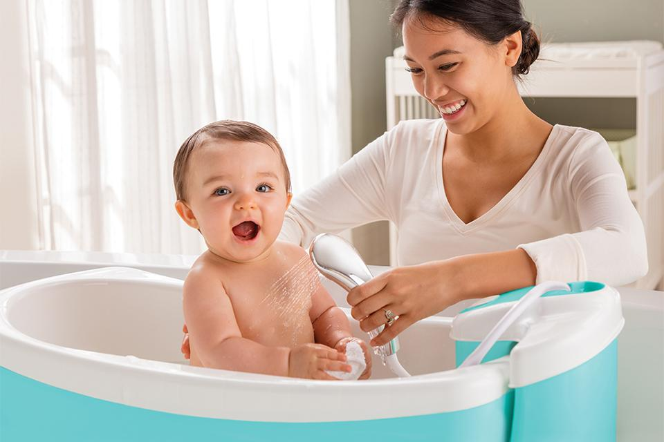 Bathing baby. Find everything you need to make a splash and enjoy special bathing bonding time with your little one.