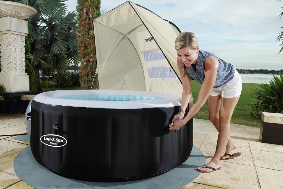 Inflatable hot tub accessories.