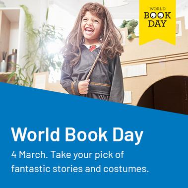 World book day. Take your pick of fantastic stories and costumes.