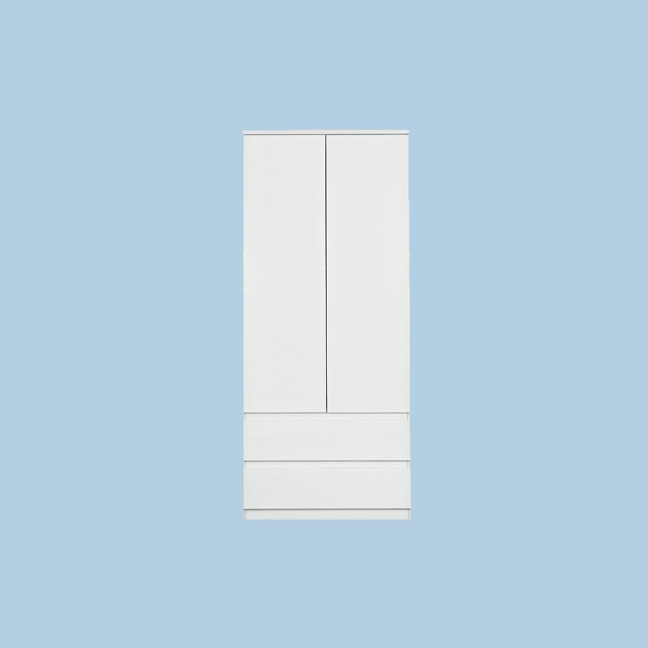 Habitat Jenson Gloss 2 Door 2 Drawer Wardrobe - White.