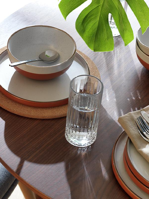 Habitat 12 Piece Dinner Set - Rust Speckle.