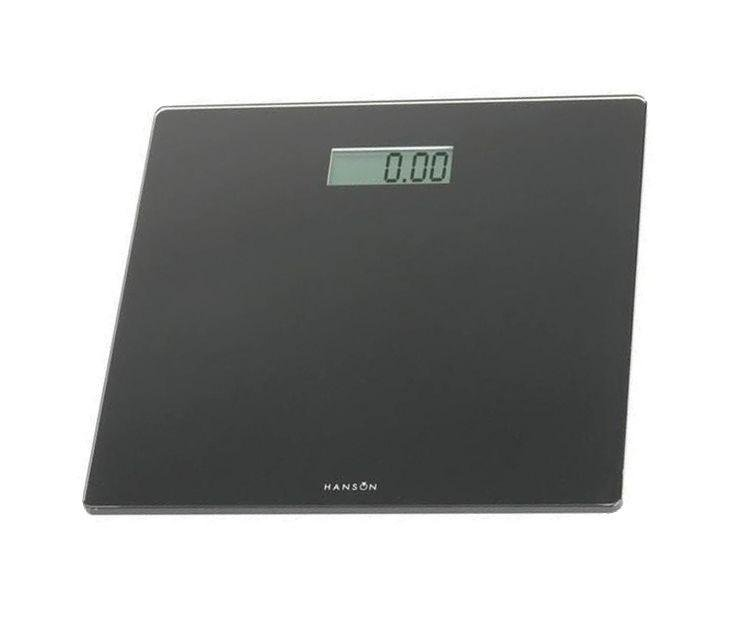 Image of Hanson HX6000 Slim Electronic Bathroom Scale - Black.