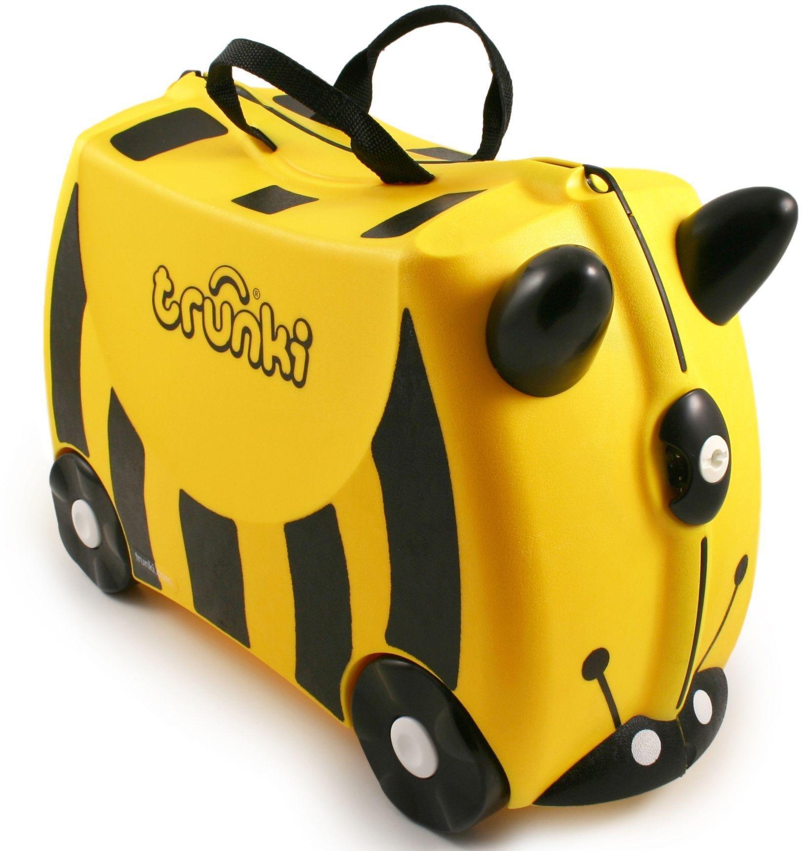 Trunki Bernard Bee 4 Wheel Hard Ride On Suitcase - Yellow