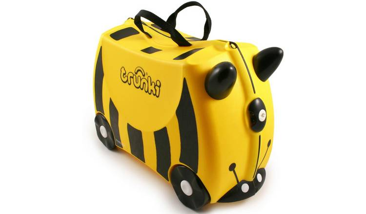 Trunki Bernard Bee 4 Wheel Hard Ride On Suitcase - Yellow