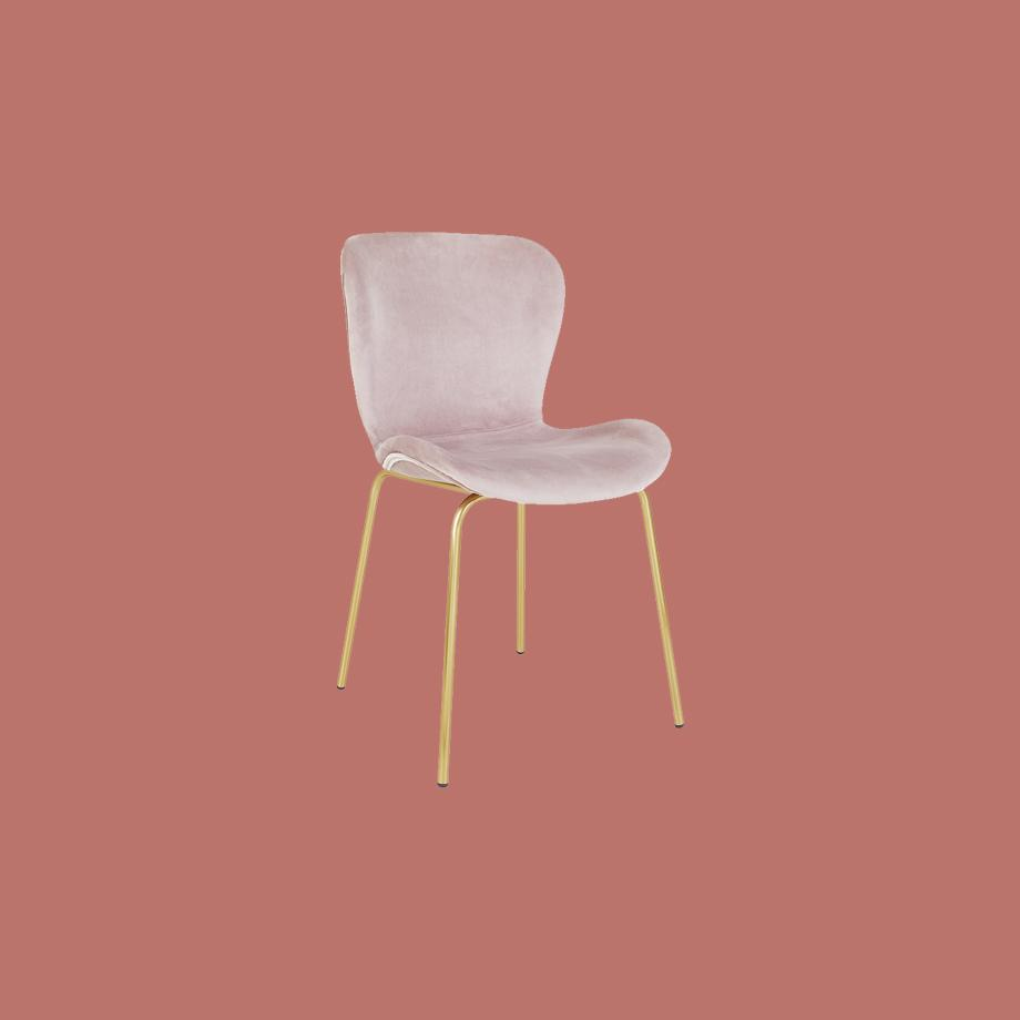 Habitat Etta Pair of Velvet Dining Chair- Pink.