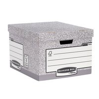 Fellowes - System Large Document Storage Boxes 10 pack - Grey