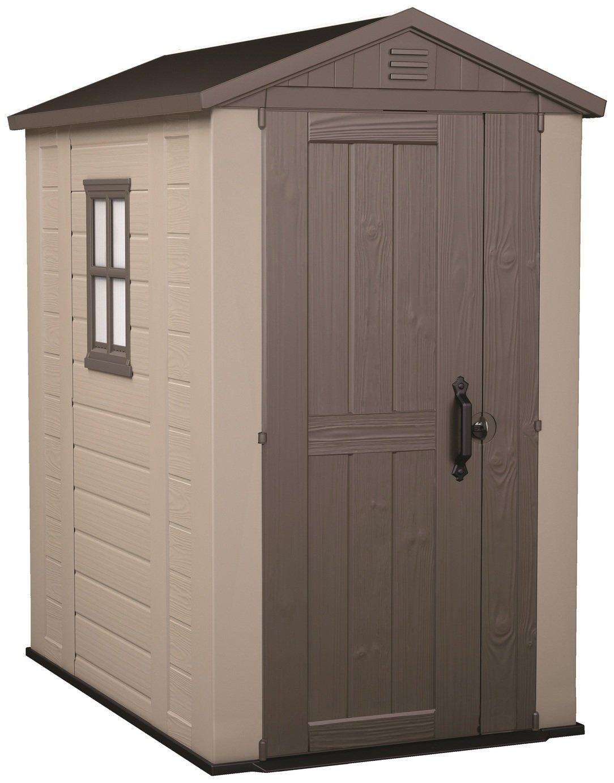 Keter Factor Apex Garden Storage Shed 4 x 6ft – Beige/Brown