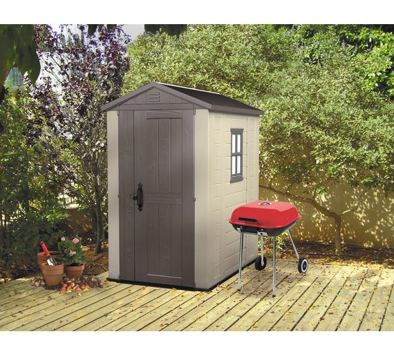 Buy keter apex plastic garden shed 6 x 4ft at for Garden shed 4 u