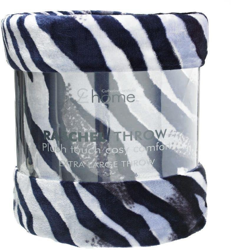 Catherine Lansfield Raschel Throw - Zebra Print