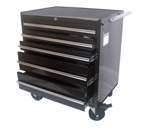buy 5 drawer rollaway tool cabinet at your. Black Bedroom Furniture Sets. Home Design Ideas
