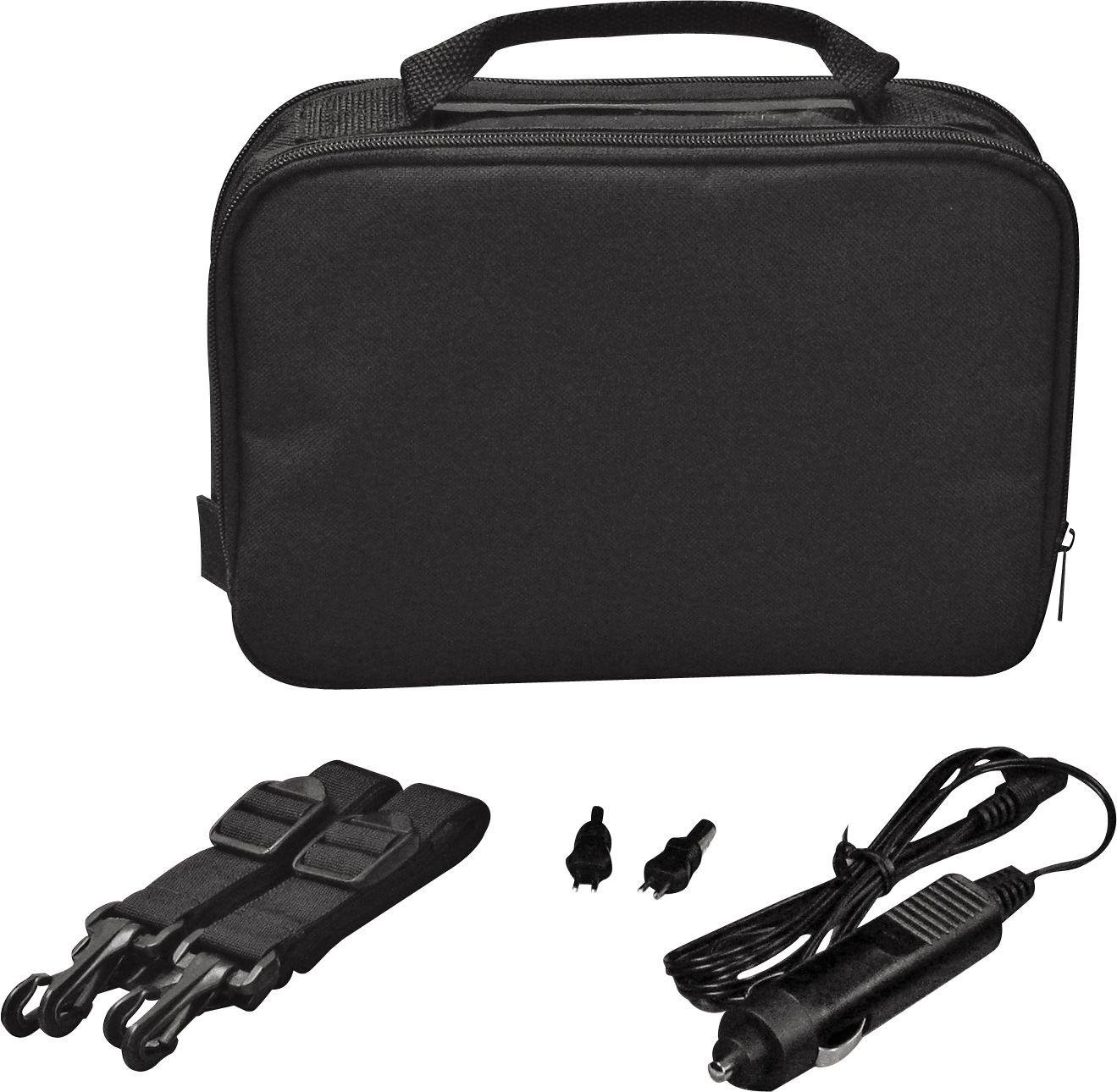 10 Inch - Gadget Bag with - Car Charger - Black