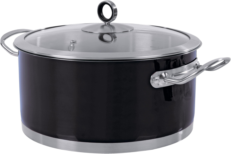 Morphy Richards Accents 24cm Casserole Dish - Black.