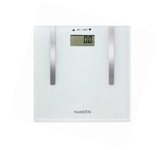 Hanson H902 Fat Analyser Electronic Bathroom Scale106 1213. Buy Hanson H902 Fat Analyser Electronic Bathroom Scale at Argos co
