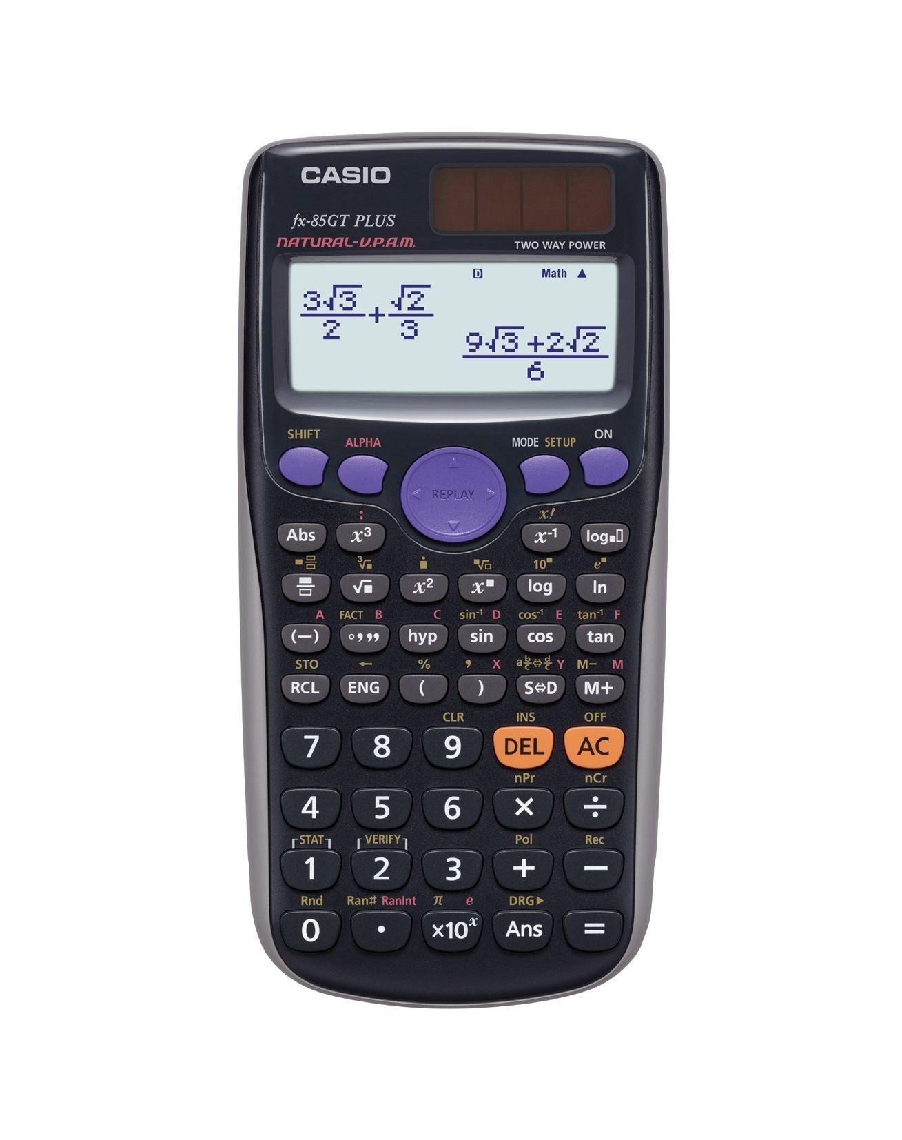 Image of Casio FX-85GT Plus Dual Powered Scientific Calculator- Black