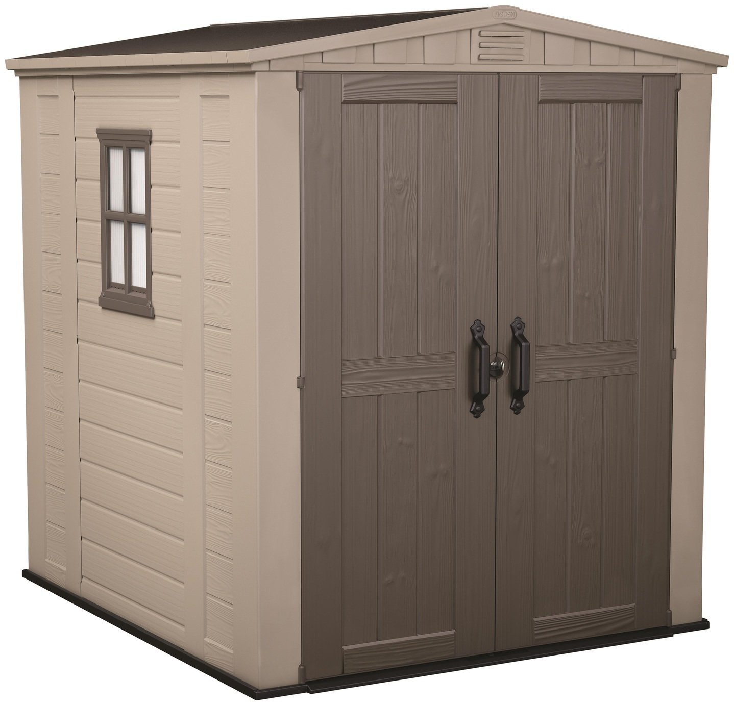 Keter Factor Apex Garden Storage Shed 6 x 6ft - Beige/Brown